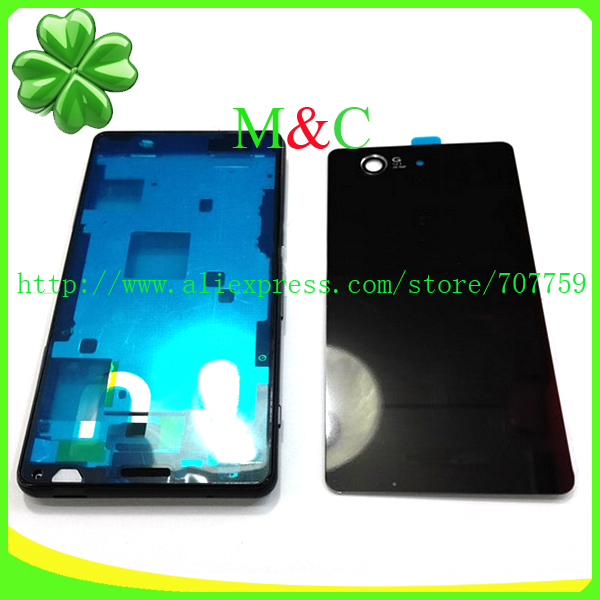Original Z3 Mini Full Housing Battery Back Cover for Sony Xperia Z3 Mini Compact M55W D5803 D5833 Case Housing With Logo