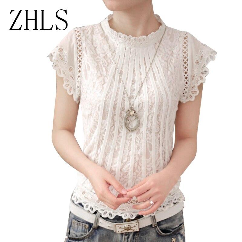 Aliexpress.com : Buy Ladies Black White Lace Blouse Short