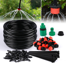 25m Diy Drip irrigation System Automatic Watering 30pcs Adjustable Drippers Micro Drip Garden Watering Kits Garden Sprinklers