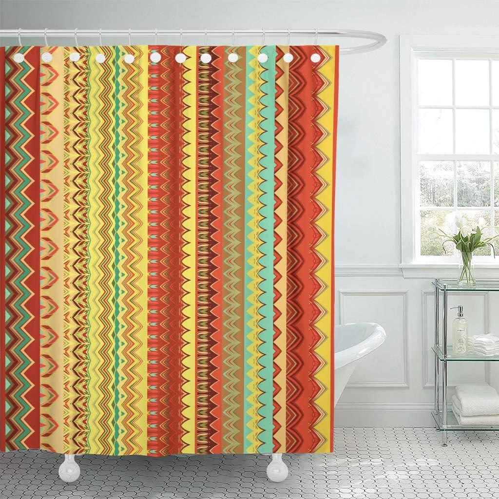 Shower Curtain Aboriginal Ethnic Pattern Tribal Of Borders