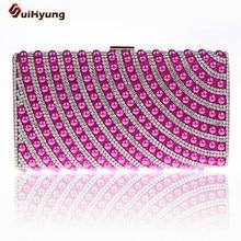 Qualitätssicherung Frauen Gestickte Perlen Abendtasche Perlen Handtasche Diamant Kupplung Geldbörse Nachahmung Schulter Tasche 10 farbe