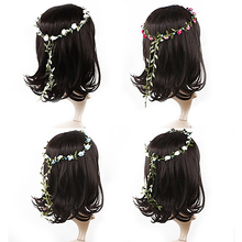 Hot Boho Lady Girl Floral Flower Festival Wedding Garland Forehead Hair Head Band headbands Hairwear 5BSX 7ELN