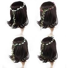 Hot Boho Lady Girl Floral Flower Festival Wedding Garland Forehead Hair Head Band headbands Hairwear 5BSX