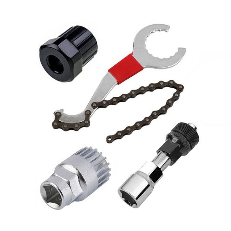 Dağ bisikleti bisiklet tamir alet setleri zinciri sökücü/tutucu sökücü/filibir sökücü/krank sökücü çektirme bisiklet aracı seti