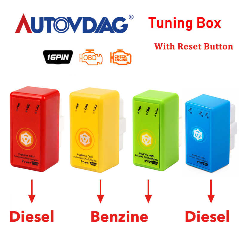 Power Prog NitroOBD2 Chip Tuning Box For Diesel / Benzine Cars Powerprog Nitro OBD 2 Interface More Power Torque CNP