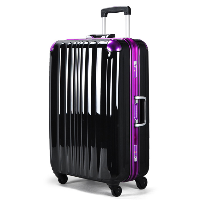 High end pull rod box pure PC aluminum frame luggage universal wheel to go abroad to check the suitcase 22 inch customs lock