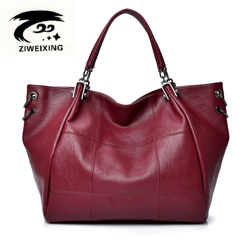 Women Big Shoulder Bag Luxury Female Handbag High Quality Leather Lady Messenger Bags Large Capacity Casual Tote New Sac A Main 2018 new women bag ladies shoulder bag high quality pu leather ladies handbag large capacity tote big female shopping bag ll491