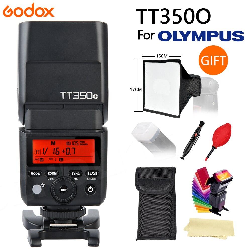 Newest GODOX TT350 Mini Flash Light 2 4G Wireless HSS TLL 1 8000s Master Speedlite Flash