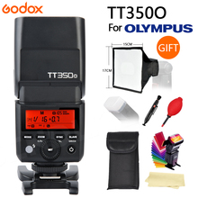 Lo nuevo GODOX TLL TT350 Mini Luz de Flash 2.4G Wireless HSS 1/8000 s Maestro Speedlite Flash Para Olympus Panasonic Lumix Cámara + regalo