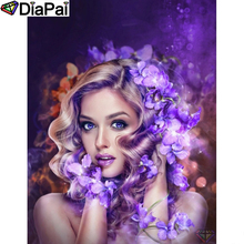 DIAPAI Diamond Painting 5D DIY 100% Full Square/Round Drill Beauty character Embroidery Cross Stitch 3D Decor A24787