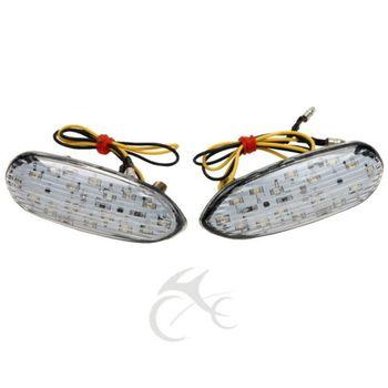 Ayna Bloğu Kapalı LED Dönüş Sinyalleri Gösterge Flaşör Suzuki GSXR 600 GSXR 1000 01-13 GSXR 750 00 -13 GSXR 1300 Hayabusa 99-13
