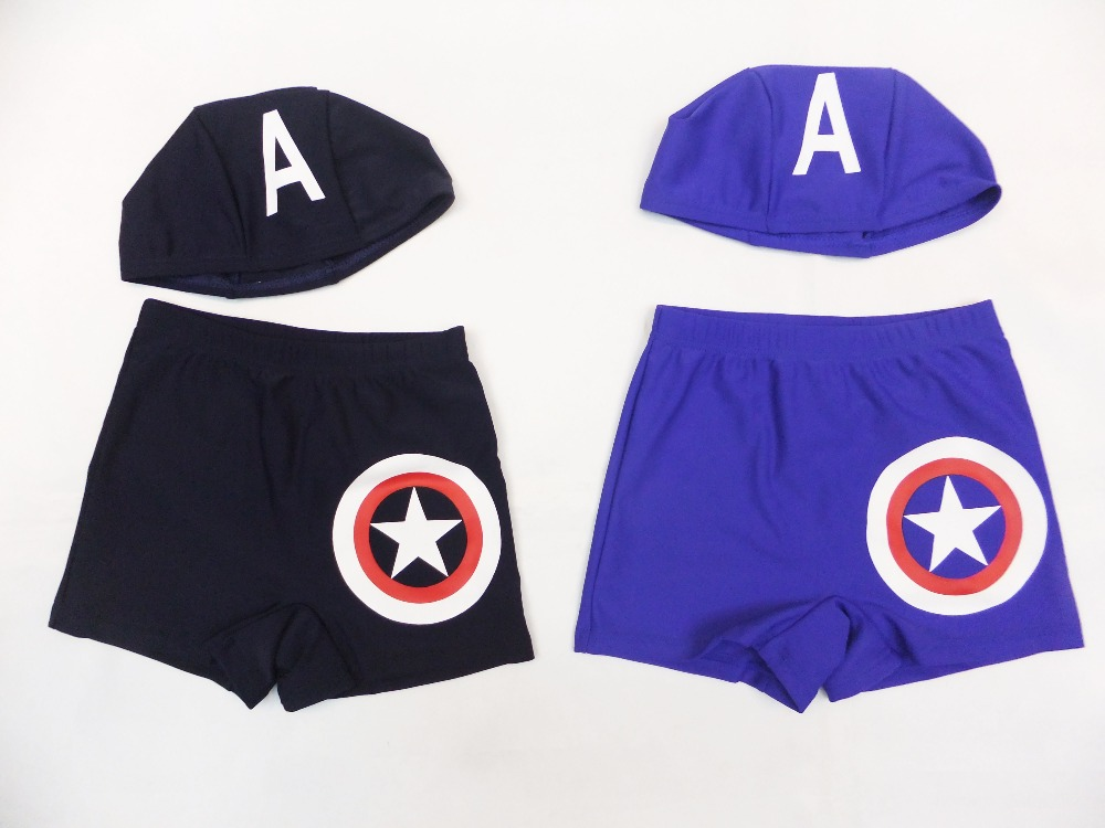 3 - 7 years Boy's Captain America beach shorts/bathing suit,kid trunks,baby Captain America Prevent bask in clothe