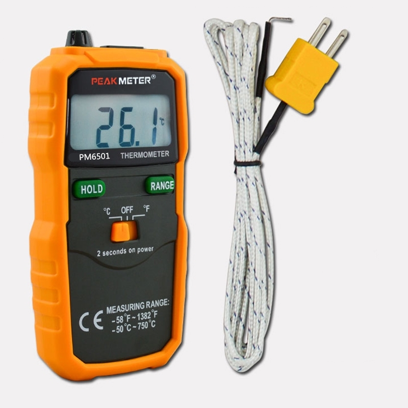 Heat Measuring Instruments : Peakmeter pm digital thermometer high precision k type