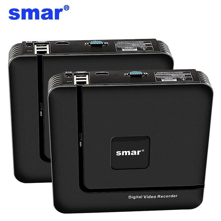Smar mais novo mini nvr completo hd 4 ch 8 ch h.265 segurança standalone cctv nvr 1080 p 4ch 8ch onvif 2.0 para o sistema de câmera ip 1080 p