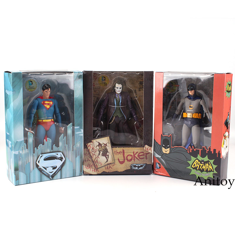NECA DC Comics Superman Vs. Batman Joker 1/8 scale painted PVC Action Figure Collectible Model Toy 18cm KT2187 neca batman begins bruce wayne joint movable pvc action figure collectible model toy 7 18cm