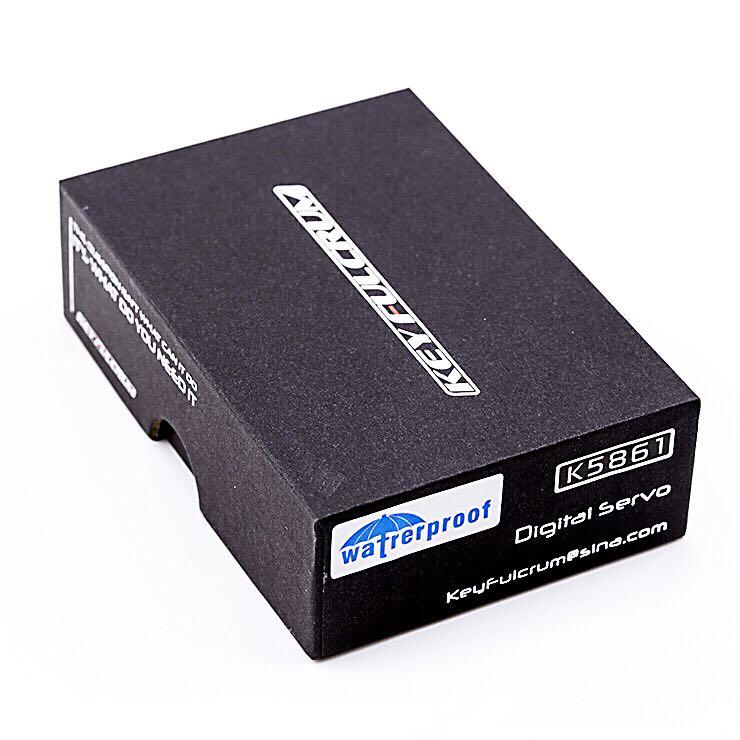 1 PC K5861 étanche Servo DC6V 7.4V en métal engrenage direction Servo couple élevé 32 KG silencieux magnétique serveur W roulement à billes pour voiture RC - 3