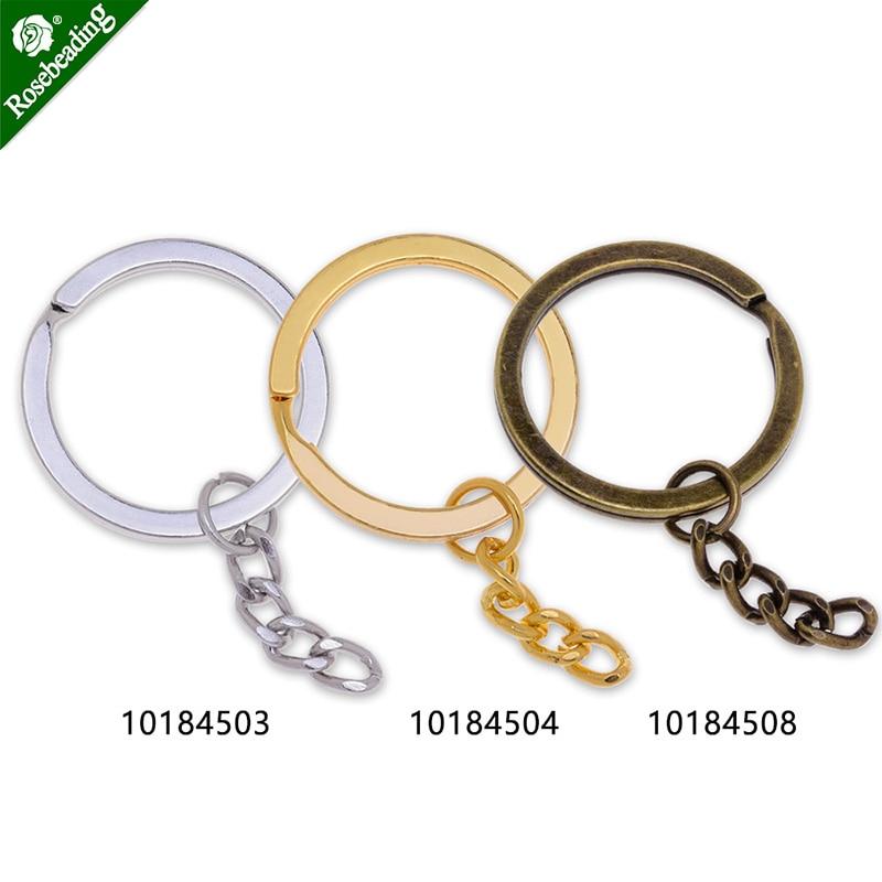 Iron Round Key Rings Split Rings Circle,Flat Key Chain,Car Keys Organization,sold 50pcs/lot