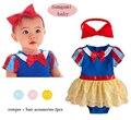 Девочка rompers, Принцесса стиль 2 шт. комплект, Новый 2016, Лето, Новорожденный, Девочка одежды, Детская одежда, 6 - 24 м размер