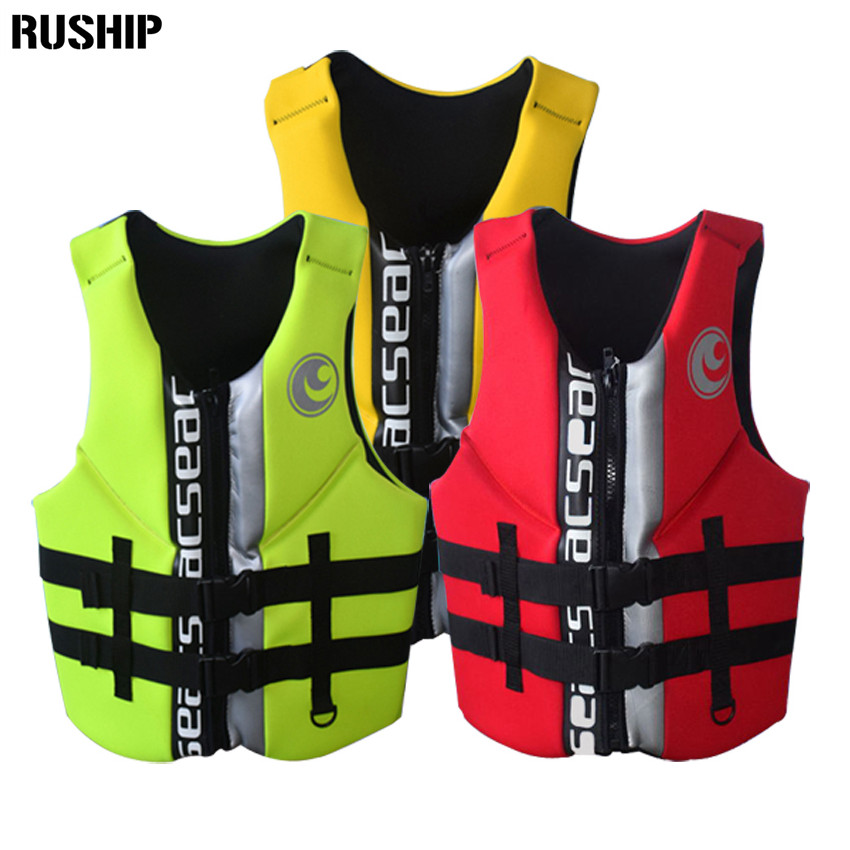 Hisea High quality professional neoprene adult life jackets thick water floating surfing snorkeling fishing racing vest Portable 2 stearns pfd v2 series neoprene life jackets