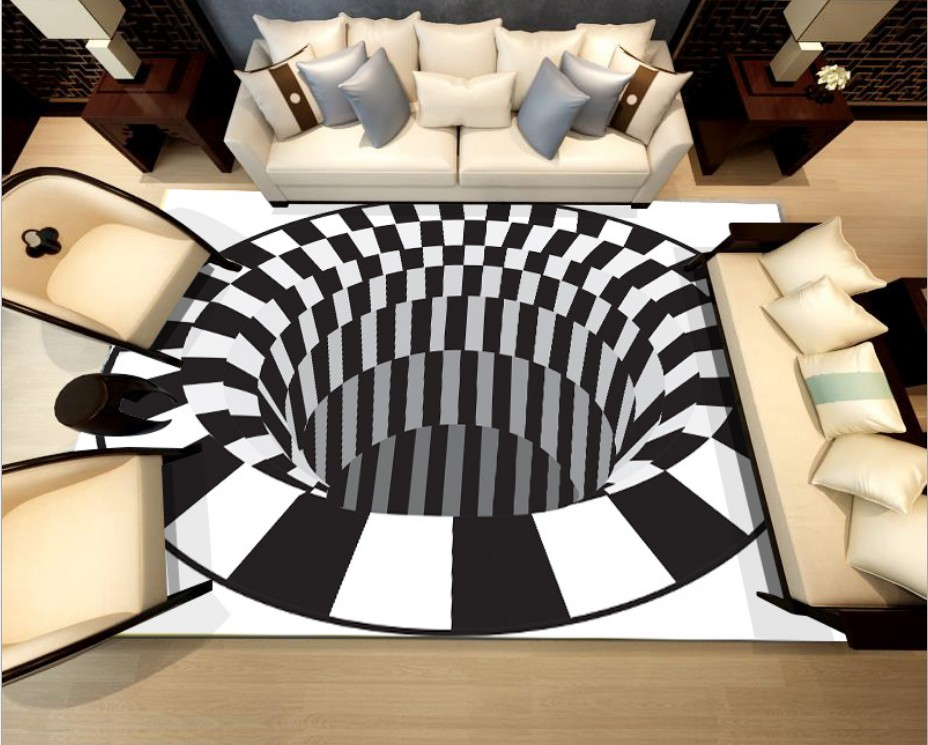 2018 new innovation black white Plaid Home Carpet Anti-skid bedroom play Carpets Flannel Entrance Indoor outdoor Floor Mats C142 ...