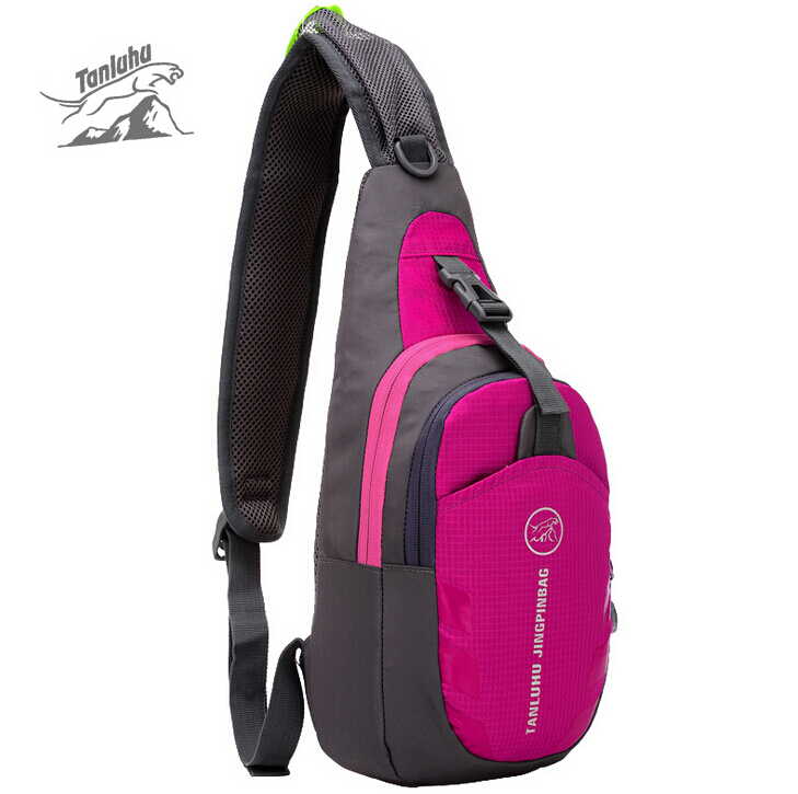 TANLUHU Waterproof Nylon Shoulder Bag Men Women Camping Travel Running Outdoor Sport Camping Hiking Bag