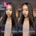Brazilian Straight Hair With Closure 8A Brazilian Virgin Hair With Closure Queen Straight Hair Tissage Bresilienne Avec Closure