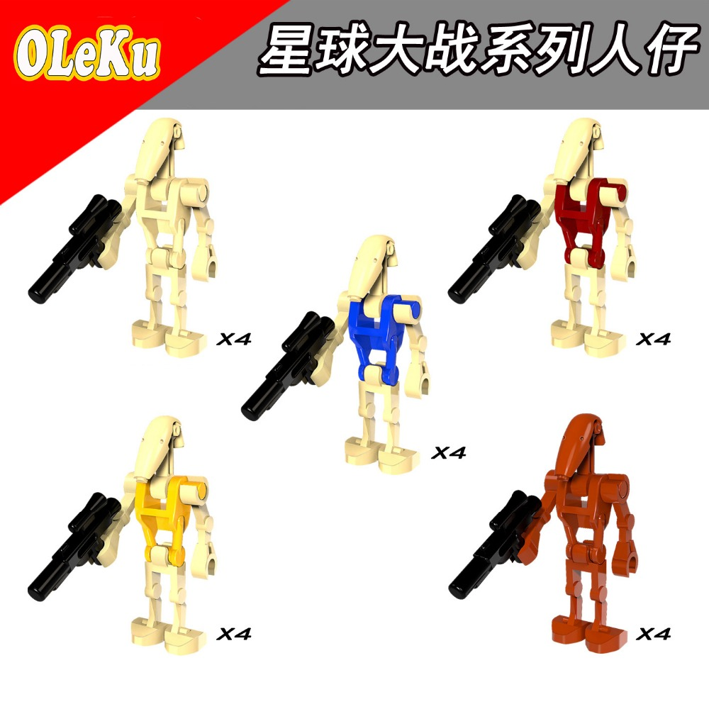 For Star Wars Battle Droid Clone Trooper Imperial Stormtrooper Kits STARWARS Model Building Blocks Bricks Toys Figures