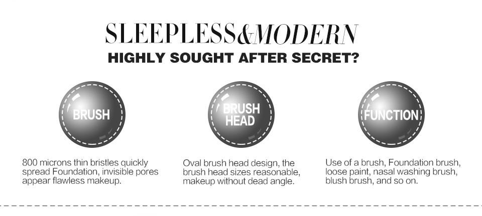 10PCSet Professional Makeup Brushes Kits Power Shaped Face Foundation Eyebrow Lip Eyeliner Brush Sets Makeup Beauty Tools (62)