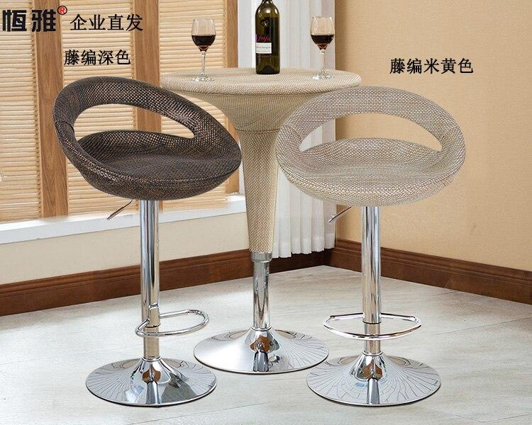 1B Bar Table Chair Bar Stool Modern Minimalist Rotating Lift Chair Rattan Cash Register Front Desk High Stool
