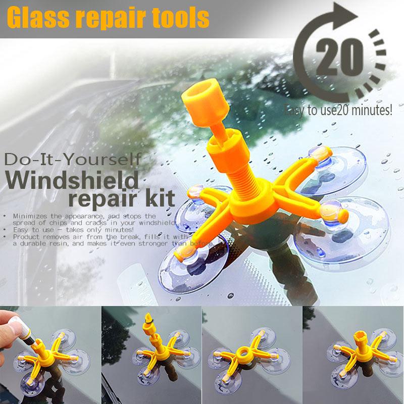 Fast Car Windshield Repair Tool Kits Seamless Restore Hole Crack Scratch On Windscreen Glass Broken Removal DIY Repairing Tools