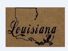 Funny Front door mat non slip America map Welcome Home woven doormat design welcome Louisiana State Map entrance doormats