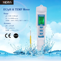 Three in one PH TDS Meter 6 Multifunction Monitor Pen EC Water Quality Detector Backlight Digital Display Conductivity Meter