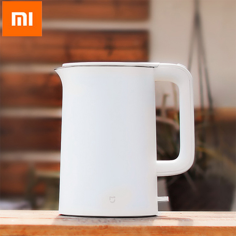 цена Xiaomi Mijia 1.5L Electric Water Kettle Auto Power-off Protection Wired Handheld Instant Heating Electric Kettle