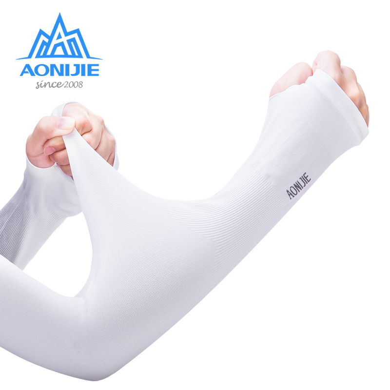 AONIJIE E4036 One Pair UV Sun Protection Cooling Arm Sleeve Cover Arm Cooler Warmer For Gloves Running Golf Cycling Driving