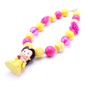 Image 5 - MSH.SUN 1set Hot sale Cute Princess Kid Chunky Necklace DIY Bubblegum Bead Chunky Necklace Jewelry For Children Girls BN009