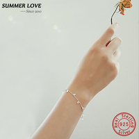 ZOMER LIEFDE Zilver 925 sieraden Water Drop Edelsteen Charm Armbanden voor Vrouwen Real 925 Sterling Zilver Pulseras Mujer Bijoux