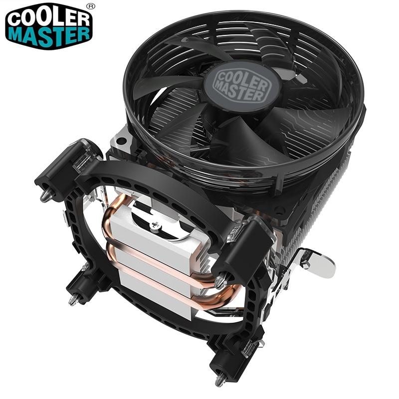 Cooler Master T20 2 Copper Heatpipes CPU cooler for Intel 775 115X AMD AM4 AM3 CPU radiator 95.5mm 3pin cooling CPU fan PC quiet
