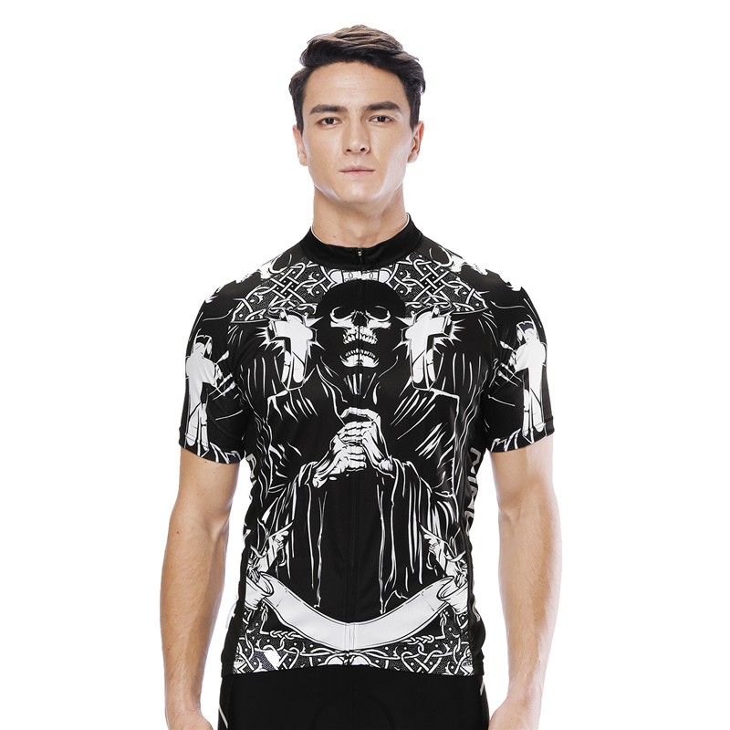 Punisher Cycling Jersey Mtb Bicycle Clothing Skull Bike Wear Clothes Men  Short Sleeve Maillot Hombre Team jersey Customized -in Cycling Jerseys from  Sports ... cd8645334
