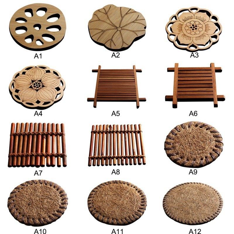 Creative Manual Coaster Teapot Mat Bamboo Mat Insulation Tea Mat Ceremony Six Gentlemen Tea Art Tea Ceremony Accessories