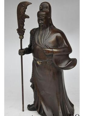 11 chinese bronze guangong guanyu Generals warrior Soldier immortal god statue decoration bronze factory outlets