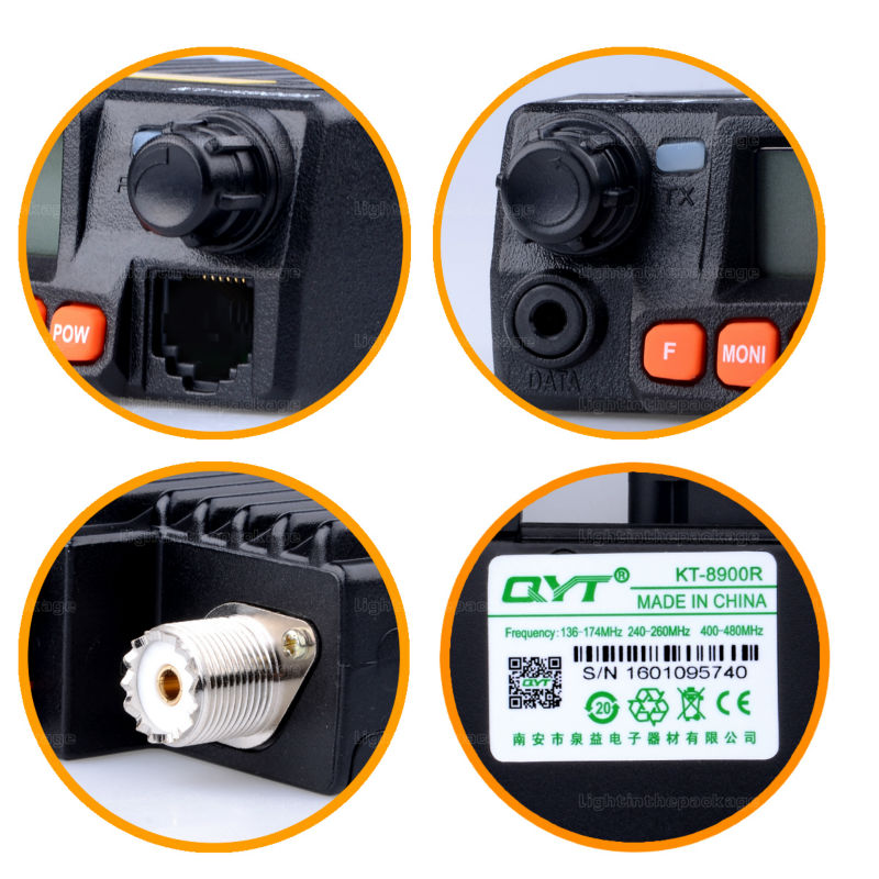 NEW QYT KT-8900R KT8900R Mini Mobile Radio Tri Band 136~174MHz 240-260MHz 400~480MHz with cheap price Free Shipping (1)