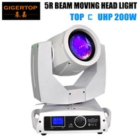 Gigertop 5R 200W Sharpy Beam Moving Head Light White Housing 16 DMX Channels Wooden Case Packing Pan 540 Tilt 270 Degree CE ROHS