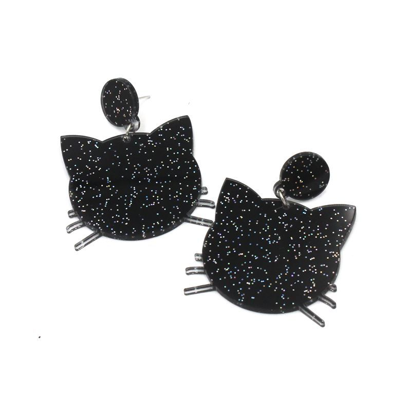 Embellished Black Cat Pasties