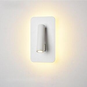Image 5 - Nordic Led Wandlamp Met Schakelaar 3W Spotligh 6W Backlight Gratis Rotatie Blaker Indoor Wandlamp Voor Thuis slaapkamer Bed Licht