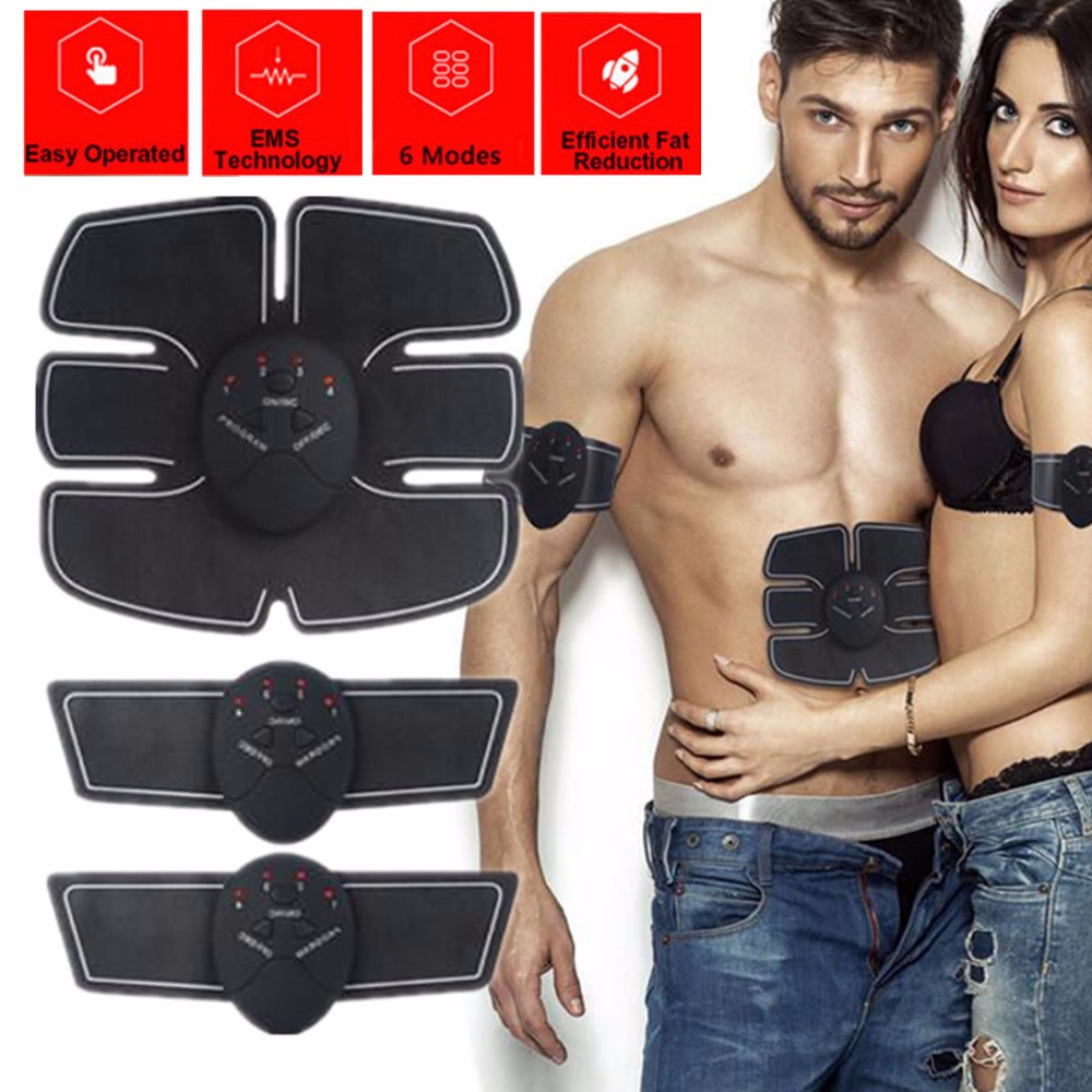 Smart Electric EMS Abdominal Muscle Stimulator Wireless ABS Muscles Trainer Body Fitness Training Exercise Build Massage Machine portable electric smart fitness gear equipment slim massager ems electrical muscle stimulator muscle stimulator training gear