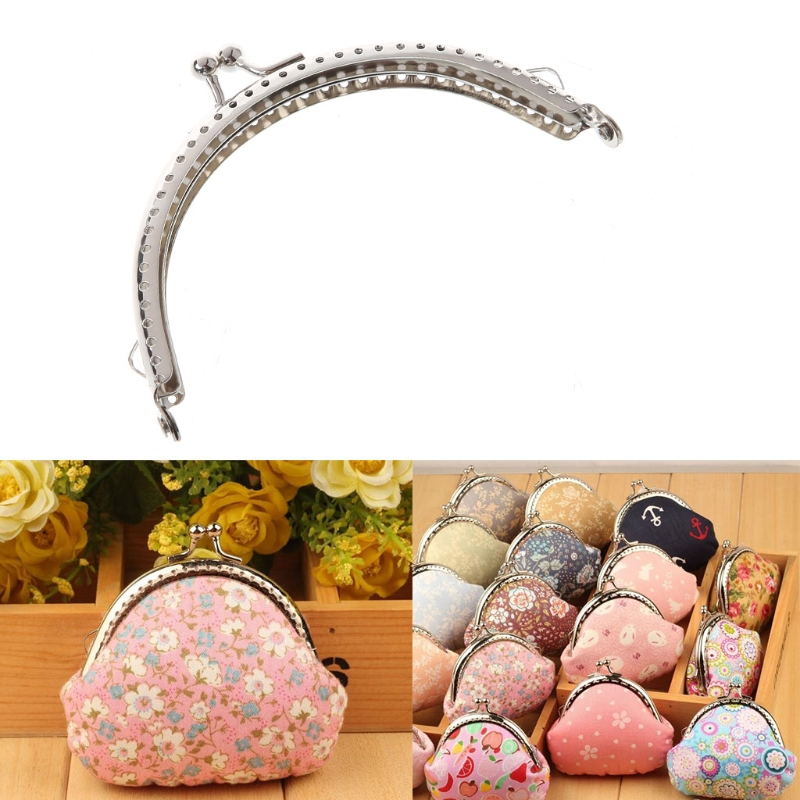 1PC Coin Bag Purse Metal Frame Kiss Clasp Making Accessories DIY Tool 12.5cm