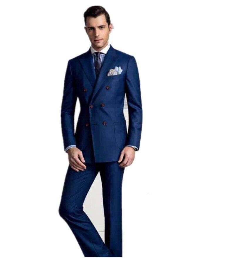 N997//11 Men/'s plain bleu marine soie tricoté cravate