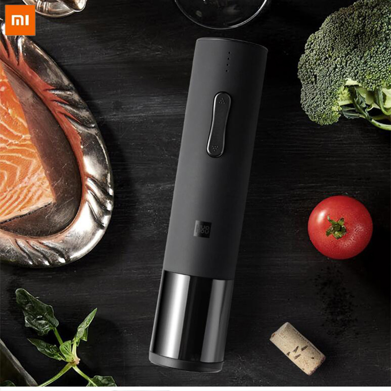 Original Xiaomi Automatic Wine Bottle Opener Kit Electric Corkscrew With Foil Cutter For Xiaomi Red Wine Smart Home Kits Product
