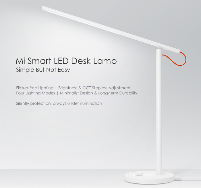Xiaomi with Mi APP remote Lamp Home control Mi Reading Alexa Light Smart Desk Lamp Mijia Work LED Table Dimming WiFi Enabled jzqSUMGVLp