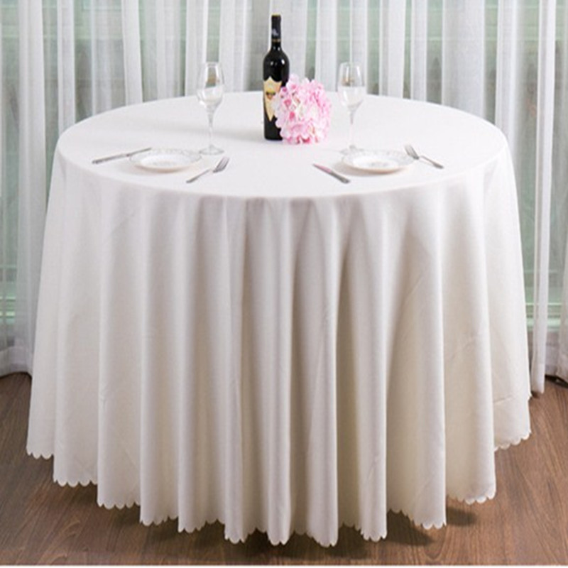 120 quot hot selling free shipping cheap polyester round table cloth for banquet in Tablecloths from Home amp Garden
